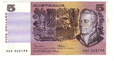 AU1.04 • Buy AUSTRALIA $5 Dollars AXF Banknote (1985) P-44e Johnston-Fraser Sign Prefix PUP