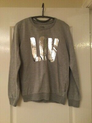 £10 • Buy Little Eleven Paris Grey Long Sleeved Jumper With Silver Writting
