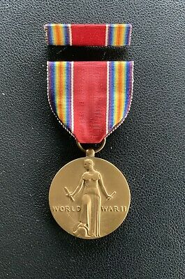 £4.40 • Buy Original WW2 US Victory Campaign & Service Medal With Ribbon