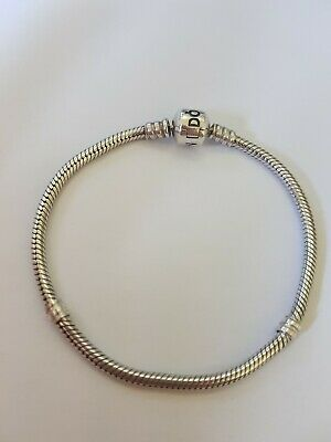 AU44 • Buy Genuine Pandora Silver Barrel Clasp Moments Snake Bracelet 19cm