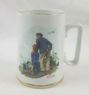 $ CDN9.67 • Buy 1985 Norman Rockwell Museum Inc Looking Out To Sea Coffee Mug Cup Art Collection