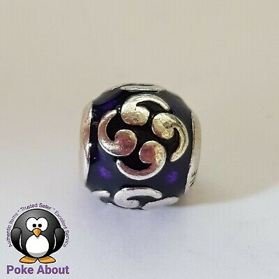 AU36 • Buy Authentic Pandora Silver Purple Enamel Zen Swirls Charm #790491EN13