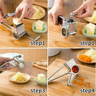 £8.29 • Buy Kitchen Tool Carrot Cheese Grater Rotary Stainless Steel Blades Slicer