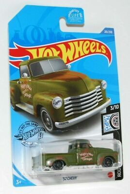 AU0.99 • Buy Hot Wheels 2018 Rod Squad '52 Chevy 201/250 Mighty Max Garage Green Pickup Truck