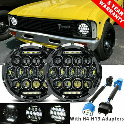 AU71.99 • Buy 7 Inch LED Headlights Projector Halo DRL Motorcycle Turn Light Fit For GQ PATROL