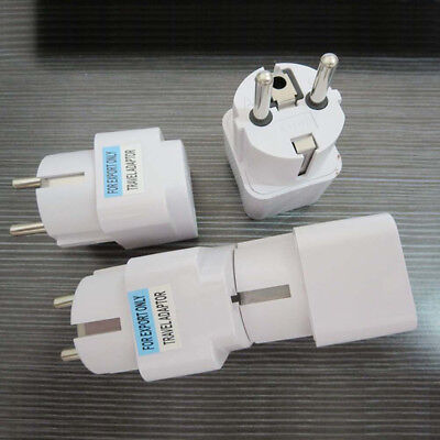 AU2.94 • Buy US UK AU To EU Europe Travel Charger Power Adapter Converter Wall Plug Home^mx