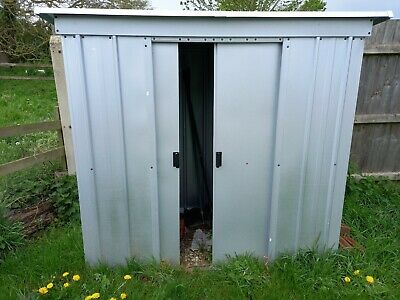Yardmaster 6 X 4' Pent Roofed Metal Shed Without Floor Frame - Silver • 34£