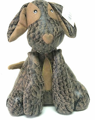 £9.99 • Buy DOOR STOP Heavy Filled PUPPY DOG Novelty Ornament BROWN Faux LEATHER & SUEDE