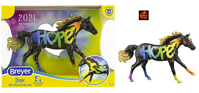 £39 • Buy Breyer 62121 Classic Scale Hope 2021 Horse Of The Year Black Rainbow Model New