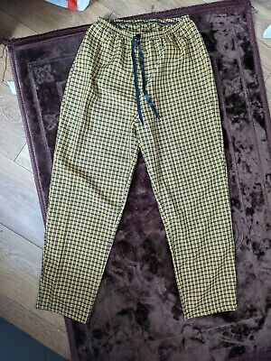 £7 • Buy Yellow Checkered Trousers Size S (UK 8)