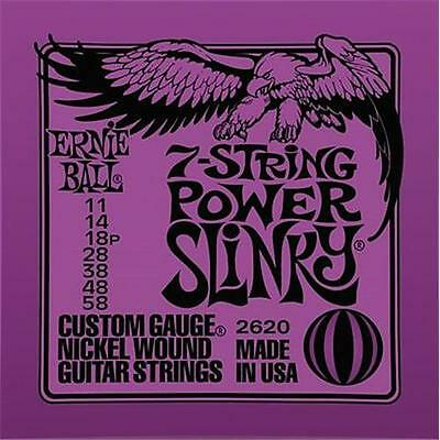 AU15.41 • Buy Ernie Ball 7 String Power Slinky Electric Guitar Strings 11-58 - 2620