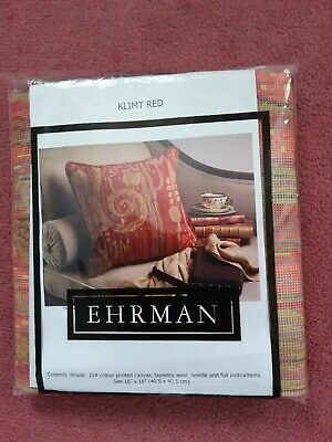 EHRMAN Needlepoint Tapestry - KLIMT RED Designed By Candace Bahouth • 35£