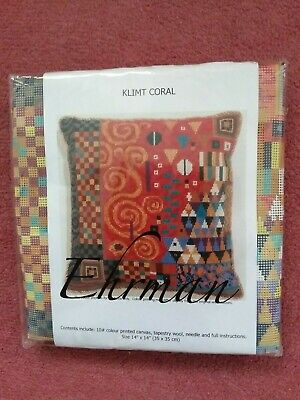 EHRMAN Needlepoint Tapestry - KLIMT CORAL Designed By Candace Bahouth • 45£