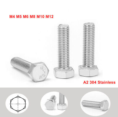 $14.59 • Buy M4 To M12 Left-Hand Threaded Hexagon Hex Head Set Screw Bolts - A2 304 Stainless