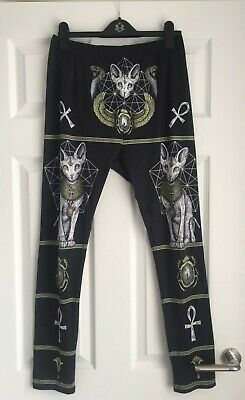 £5.50 • Buy Gothic Leggings Restyle Size Xxl 16 18 20 sphynx Cat Egyptian Cool Style