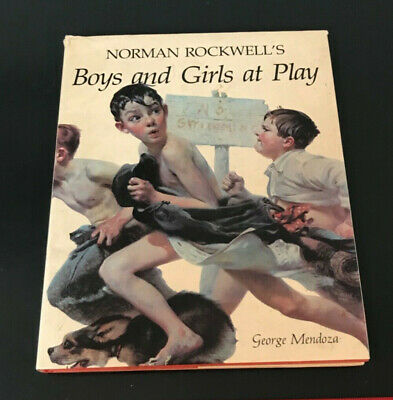 $ CDN16.17 • Buy Large Size Norman Rockwell's Boys & Girls At Play HC Book Gorgeous Photos