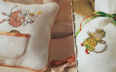 2 Cross Stitch Charts Angelina Ballerina As Fairy And Henry • 0.99£