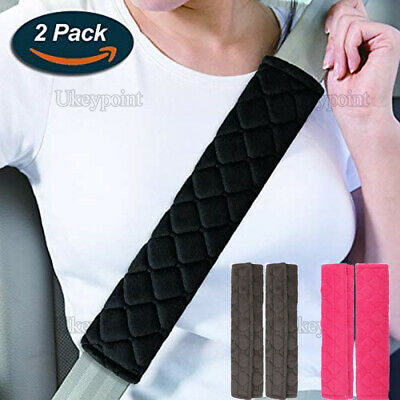 2Pc Car Seat Belt Cover Pads Car Safety Cushion Covers Strap Pad Adults Childs • 3.99£