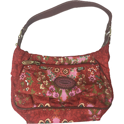 £8.99 • Buy Oilily Ladies Small Red Floral Poly Vinyl Hand Bag