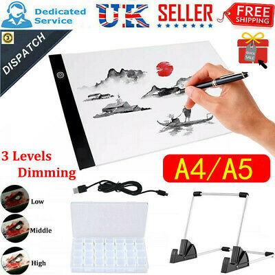 £7.49 • Buy A4/A5 LED Light Pad For Diamond Painting USB Powered Light Board Kits W/ Stand