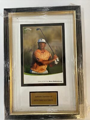 £350 • Buy Seve Ballesteros Signed And Framed Photograph With Letter Of Authenticity