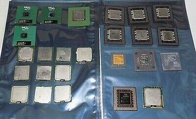 AU19.95 • Buy  Intel Pentium 4 , Xeon, Celeron , Duo, Weitek, Amd, Amd486 Cpu Huge Lot Of 25