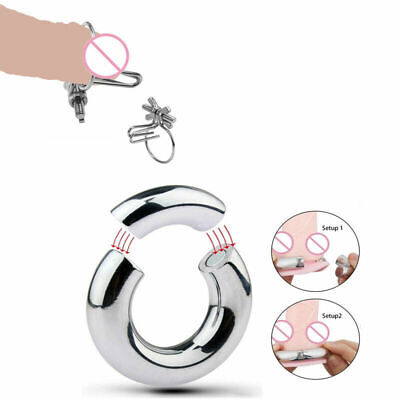 £7.59 • Buy Magnetic Stainless Steel Ball Stretcher Penis Plug Scrotum Chastity Ring Weights
