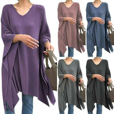 AU22.59 • Buy Womens Batwing Sleeve Casual Loose Tunic Ladies Pullover Tops Blouse Plus Size