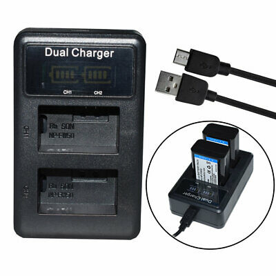 AU10.33 • Buy LCD  Battery Charger Dual Slot For Sony A7 A7R2 A7II A7M2 A5100 A6100 NP-FW50