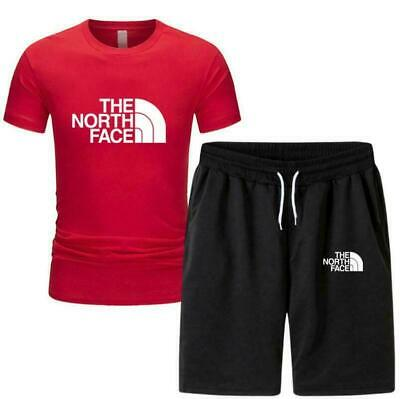 £15.99 • Buy The NORTH FACE Men Tracksuit Outfit Short Sleeve T-Shirt Shorts Pants Jogge Suit