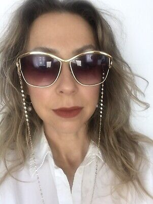 £4.99 • Buy Vintage Sunglasses Shades With Gold Chain