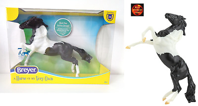 £24.99 • Buy Breyer Horse Toy Model 961 Classic Scale Black Pinto Rearing Mustang New 2021