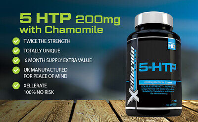 AU29 • Buy 5 HTP 200mg With Chamomile,180 Capsules 6 Month Supply - Double Strength
