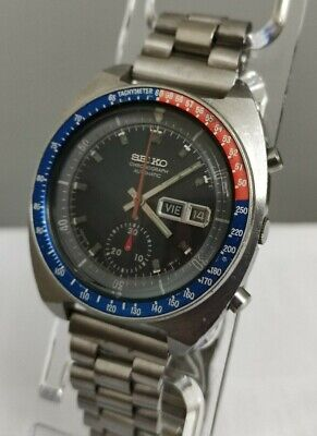 $ CDN528.92 • Buy SEIKO 6139-6002 Pogue Automatic Chronograph Blue Dial Top Condition 70s Japan