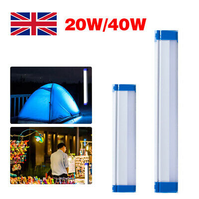 £6.99 • Buy LED Portable USB Rechargeable Light Tube Bar Outdoor Camping Hiking Tent Lamp UK