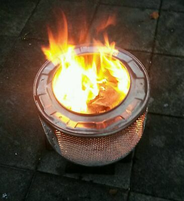 £40 • Buy Fire Pit Wood Burner Upcycled Washing Machine Drum Bbq / Planter Camping Stove