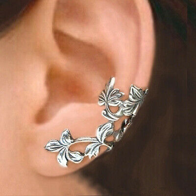 £2.69 • Buy 925 Silver Clip Earrings Fashion Flower Jewelry For Women Party Gifts A Pair/set