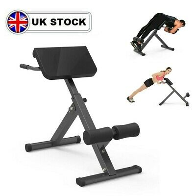£66.99 • Buy Folding Back Hyper Extension Exercise Bench Hyperextension Fitness Roman Chair