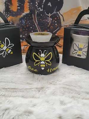 £11.95 • Buy Bee Design Oil Burner Melts Tart Ceramic Aromatherapy Candle Gift Home + Scent