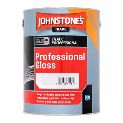 £24.99 • Buy Johnstones Trade  BLACK Gloss Paint Int / Exter Wood And Metal 5ltr
