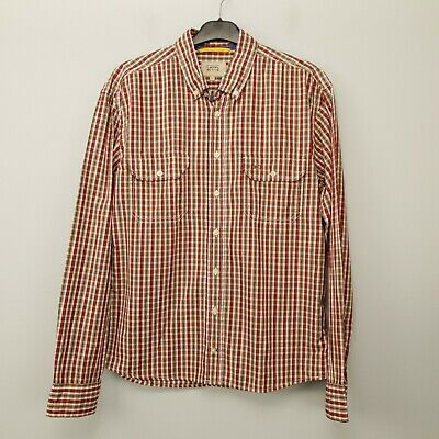 £18 • Buy Camel Active Mens Shirt LARGE Red SLIM Check Cotton