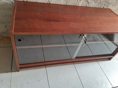 £39.99 • Buy Vintage Retro Hifi  Tv Stand Unit Cabinet With Lockable Glass Doors