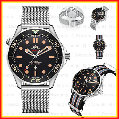 $ CDN49.40 • Buy Automatic Watch Mechanical Wristwatch James Luxury Bond Stainless Steel Diver