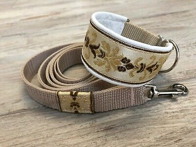 £21.80 • Buy Martingale Dog Collar & Lead Lined With Leather Italian Greyhound Whippet 1.6''
