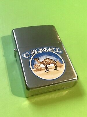 "£36 • Buy 1999 ""camel In Circle""zippo In Brushed Chrome (z511) 1/200 Made..new/unfired"