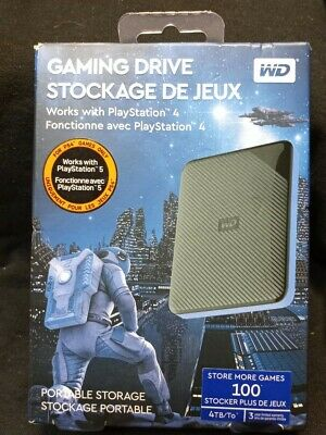 AU109.40 • Buy WD Gaming Drive~4TB External Portable Hard Drive~PS4/PS5~Factory Sealed!!!