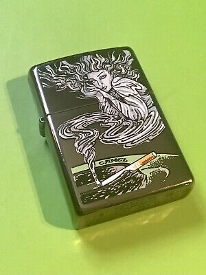 "£56 • Buy 2015 Camel""genie""zippo In Black Ice..1/50 Made Mint Condition New /unfired"