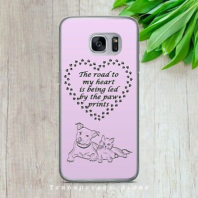 $ CDN10.21 • Buy Dog Cat Paw Print Love Quote Hard Phone Case Cover For Iphone Samsung Huawei