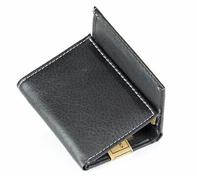 $ CDN8.43 • Buy Classic Mens Trifold Leather Wallet Black Credit Card Id Window License Billfold