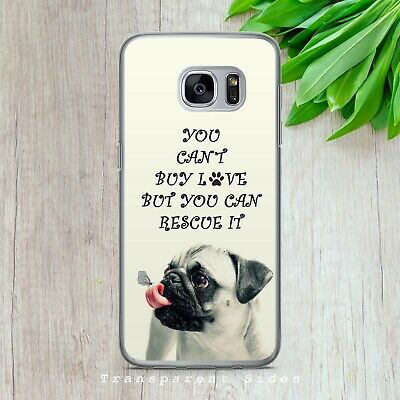 $ CDN10.21 • Buy Pug Rescue Dog Love Quote Cute Hard Phone Case Cover For Iphone Samsung Huawei
